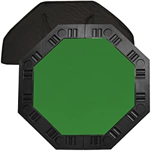 Trademark Poker 48-Inch 8-Player Octagonal Poker Tabletop (Green)