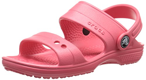 Crocs Classic Sandal K Ciabatte, Unisex bambini,  Rosa (Coral), 25-26