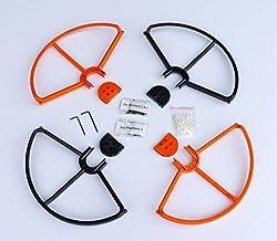 Summitlink® Snap On/off Prop Guards 2x Orange & 2x Black for DJI Phantom All Versions Phantom 3 Pro