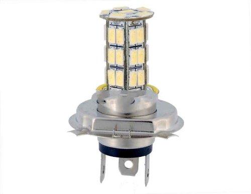 H4 Strobe 42-Led White Light Lamp (White)