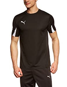 Puma Team Maillot football homme Noir/Blanc FR : L (Taille Fabricant : L)