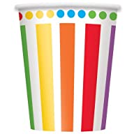 9oz Rainbow Party Paper Cups, 8ct