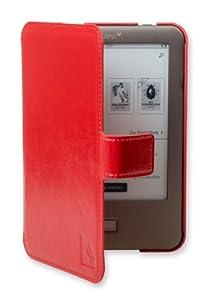 Die original GeckoCovers Slimfit Tolino shine Hülle für den Tolino E-Reader / Ebook von Bertelsmann Weltbild Thalia Telekom Hugendubel Cover Case Tasche mit Click-in-System - in der Farbe rot / red - im praktischen Buchstyle - Extra flache Hartschalenhülle !!!