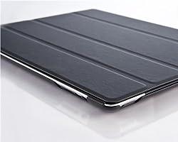 VEOX Black Ultra Slim Full Body Smart Case Cover for The New iPad 4 (with Retina Display) + iPad 3 + iPad 2 with Full Sleep Wake compatibility!