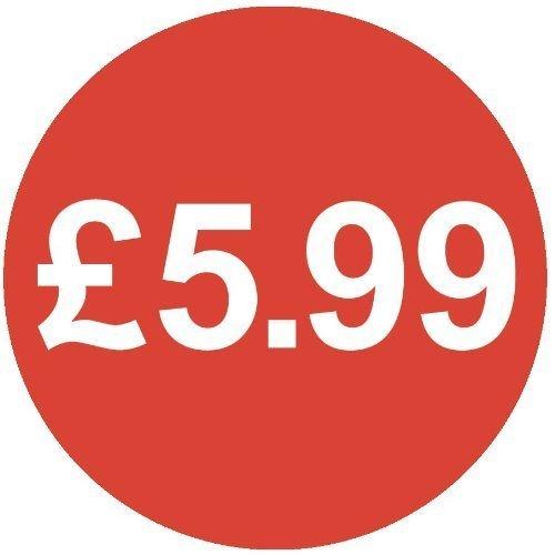 Audioprint Lot Petit 13mm £ 5,99Prix Autocollants-1000Pack