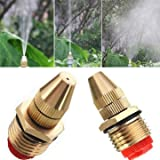 Generic 1/2 Inch Brass Adjustable Sprinkler Garden Lawn Atomizing Water Spray Nozzle