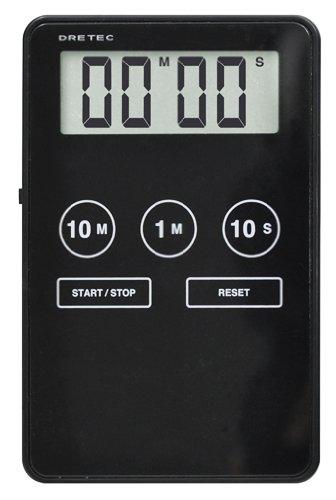 DRETEC バイブタイマー 「ポケスリム」 T-501BK ブラック T-501BK