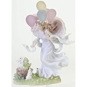 "Carefree Heart Angel Figurine - Ivy - Stone Resin - 7"" High"