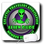 Mark Grace GRACEVISIONS Aliens And UFOs - ALIENS AND UFOS alien dude 1 on transparent - Mouse Pads