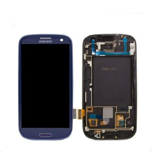 New Blue Lcd Touch Digitizer Display With Frame For Samsung Galaxy S3 Iii I9300 T999 I747