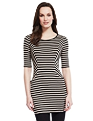 M&S Collection 2 Pockets Striped Tunic