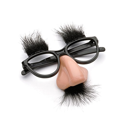 Accoutrements Fuzzy Nose and Glasses Classic Disguise - 1