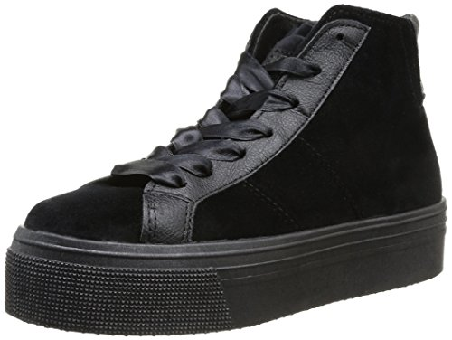 No Box  Bristol,  Sneaker donna Nero Noir (Velours Black) 40