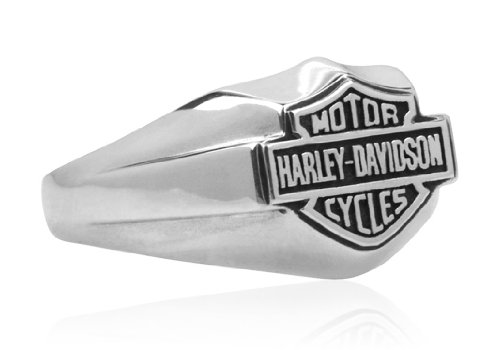 Harley Davidson Sterling Petite B&S Signet Size 7 Ring HDR0263, by MOD