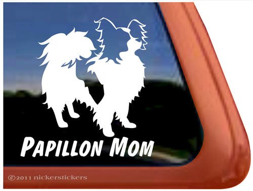 Papillon Mom Vinyl Window Dog Decal Sticker