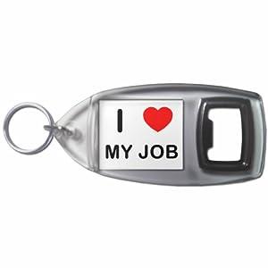 I Love My Job - Botella plástica del anillo dominante del abrelatas