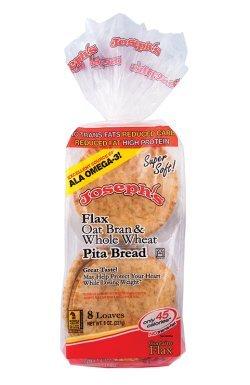 Joseph's Flax, Oat Bran and Whole Wheat Flour MINI Pita Bread 8 Loaves(8oz) (Pita Bread Wheat compare prices)