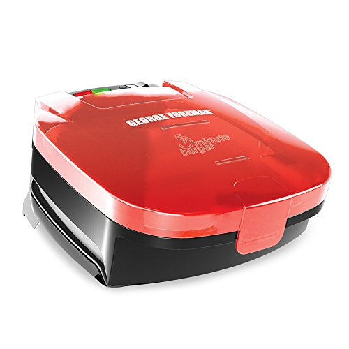 George Foreman GR1036BTR 5-Minute Burger Grill, Red (George Foreman 2 In 1 compare prices)