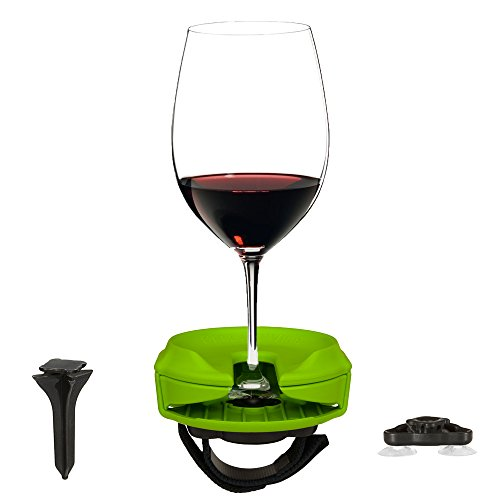 Bella D'vine Outdoor Wine Glass Holder for Stemless & Stemware.
