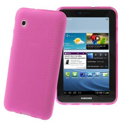 Samsung Galaxy Tab 2 7.0 festes Silikon (TPU) Tasche Case Cover Schutzhülle pink magenta - super strapazierfähig ( P3110 / P3100 / P3113 )