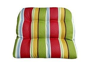 Amazon.com : Large Patio Chair Cushion - Diamond Daze Quilted Stripe