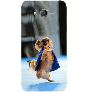Casotec Superman Dog Design Hard Back Case Cover for Samsung Galaxy J2
