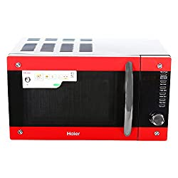 Haier HIL2001CBSH 20-Litre Convection Microwave Oven (Black/Red)