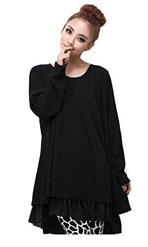 Kufv Women'S Fashion Long Sleeved Dress Xxxx-Large Black