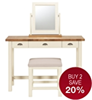 Padstow Dressing Table, Stool & Mirror Set