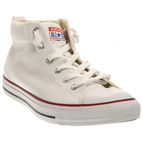 Converse Men's Chuck Taylor Street Mid Sneaker White/Natural/White 8 M