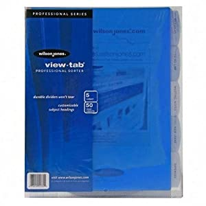 Wilson Jones View Tab Sorter, 8.5 x 11 Inches, Clear (W55765)