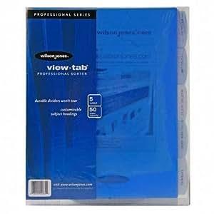 Wilson Jones View Tab Sorter, 8.5 x 11 Inches, Clear (W55765)