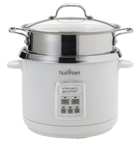 Aroma NRC-1000 Nutriware 18-Cup Whole Grain Gourmet Digital Rice Cooker, Food Steamer and Pasta Cooker