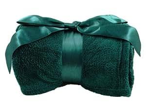 Amc soft fleece blanket throw 42 x 60 emerald green - Emerald green throw blanket ...