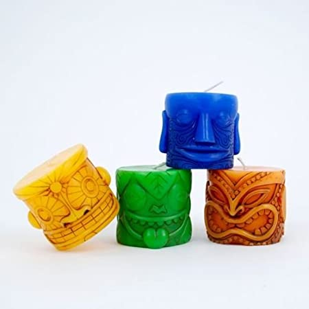 Colorful Tiki Candles
