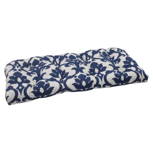Pillow Perfect Indoor/Outdoor Bosco Wicker Loveseat Cushion, Navy picture