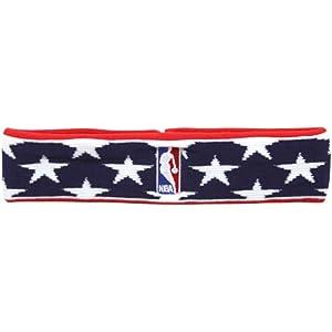 Logoman Stars & Stripes Terry Cloth NBA Headband By For Bare Feet by For Bare Feet