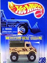 Hot Wheels Mercedes Benz Unimog Blue Card #239 Olive Cover 1:64 Scale Collectible Die Cast Car