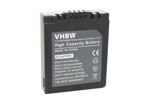 vhbw Li-Ion Akku 550mAh (7.2V) für Digitalkamera Digi-Cam Panasonic Lumix DMC-FZ5, DMC-FZ10, DMC-FZ15, DMC-FZ20.