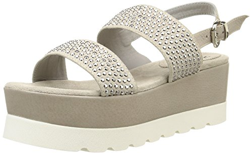NOW2798 - Sandali Donna , Bianco (Blanc (Velour Ivory/Santiago Ecru/Strass Nickel)), 40