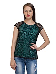 Lace Green Lined Top