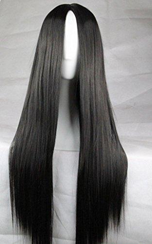 75cm Long Hair Heat Resistant Straight Cosplay Wig(Black)