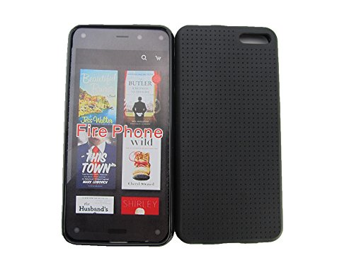 Amazon Fire Phone Case-Able® Case For Amazon Fire Phone 2014 Smartphone + Screen Film + Stylus + Clean Sticker + Fishbone Cable Winder(At&T) (Black)