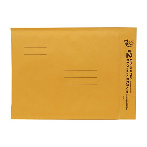 Duck Brand Kraft Bubble Mailers, #2 - 8.5 x 11 Inches, 5-Pack (284692) - 1