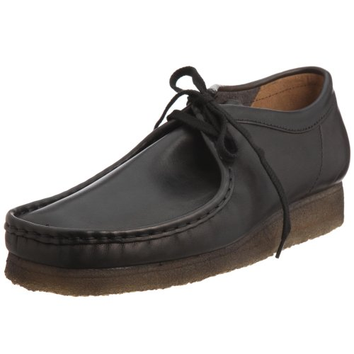 Clarks Originals Wallabee, Men's Smooth Leather Moccasins  - Black, 9.5 UK