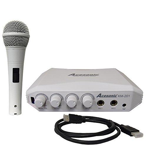 Acesonic KM-201 HDMI Karaoke Audio Mixer (Hdmi Mic Mixer compare prices)