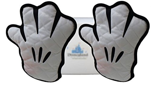 "Disney Parks Mickey Mouse ""Gloves"" Potholder Set Of Two – Disney Parks Exclusive & Limited Availability + Donald Duck Double Sided Stamp Included"
