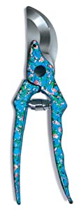Esschert Design USA 8433 Secrets du Potager Pruning Shears, Blue Color