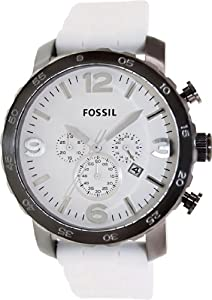 FOSSIL JR1427 Nate Chronograph Silicone Watch White