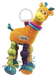 LAMAZE PLAY & GROW STRETCH THE GIRAFFE BABY DEVELOPMENT ACTIVITY SOFT RATTLE TOY